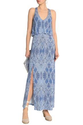 TART COLLECTIONS Tamsyn printed stretch-modal jersey maxi dress