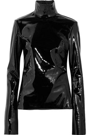 ELLERY Vinyl turtleneck top