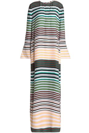 EQUIPMENT Striped silk maxi dress