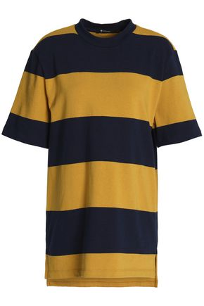 T by ALEXANDER WANG Striped cotton-jersey T-shirt