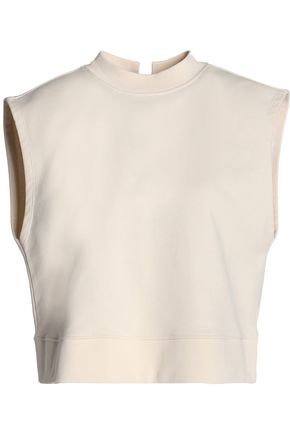 T by ALEXANDER WANG Lace-up French cotton-terry top