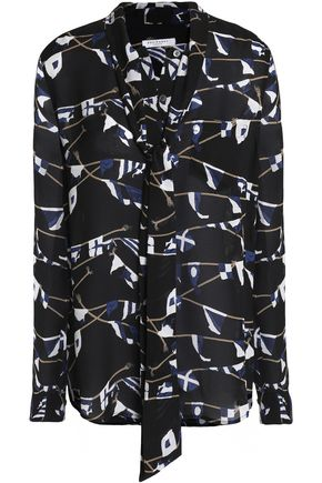 EQUIPMENT Printed silk-crepe shirt