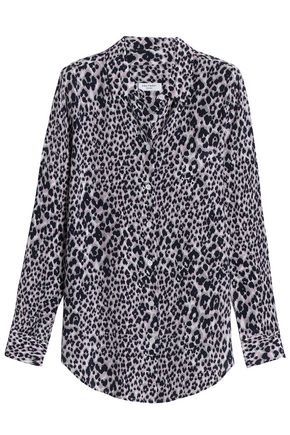 EQUIPMENT Leopard-print silk-crepe de chine shirt