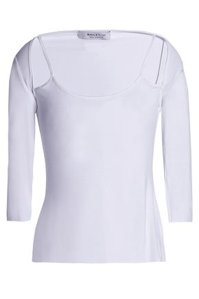 Bailey 44 Woman Rose Water Cold-shoulder Embroidered Cotton-voile Top Ivory Size M Bailey 44 Shop For Sale Fashion Style Cheap Sale Best Sale byU0JW