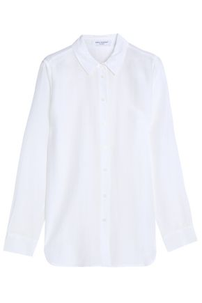 EQUIPMENT Cotton and silk-blend shirt
