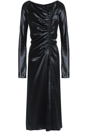 MARC JACOBS Gathered satin midi dress