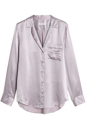 EQUIPMENT Pinstriped silk-satin shirt