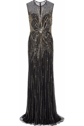 JENNY PACKHAM Bead and crystal-embellished tulle gown