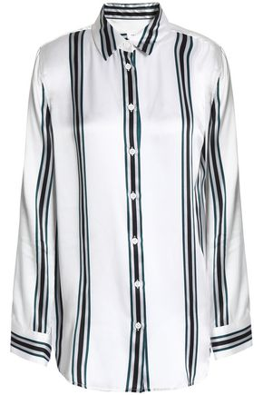 EQUIPMENT Striped silk-satin shirt