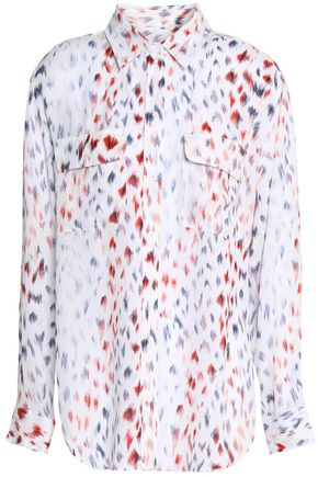 EQUIPMENT Printed silk-crepe de chine shirt