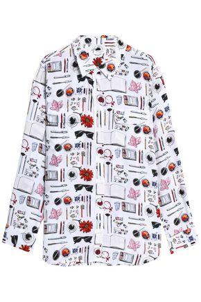 EQUIPMENT Printed silk crepe de chine shirt