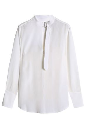 EQUIPMENT Buckled washed-silk shirt