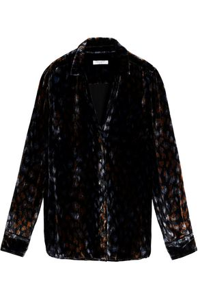 EQUIPMENT Printed velvet shirt