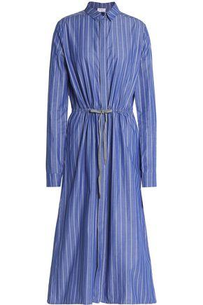 3669f2244a STELLA JEAN Striped cotton-poplin midi shirt dress