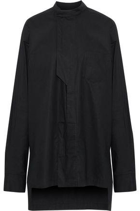 Y-3 + adidas Minimal oversized cotton-poplin shirt