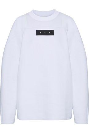 Y-3 +adidas oversized appliquéd cotton-blend sweatshirt