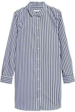 EQUIPMENT Striped cotton mini shirt dress
