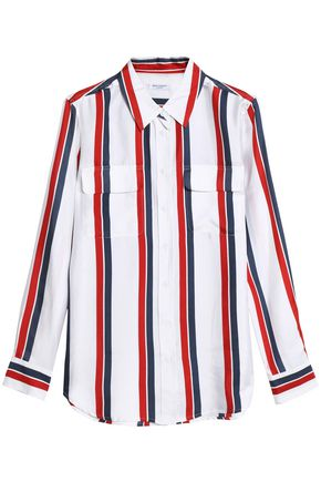 EQUIPMENT Striped silk-twill shirt