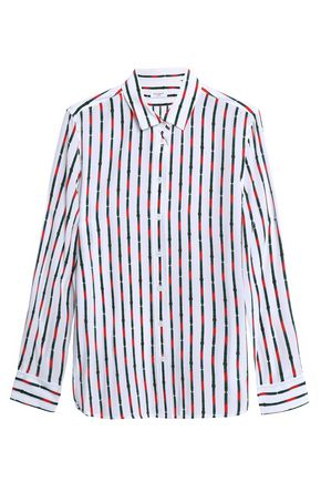 EQUIPMENT Striped silk crepe de chine shirt