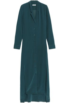 EQUIPMENT Silk-crepe de chine maxi shirt dress