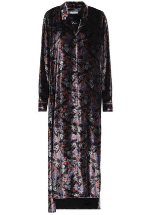 EQUIPMENT Printed chenille midi dress