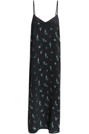 EQUIPMENT Printed silk-crepe de chine midi dress