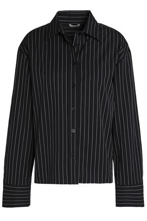 TOTÊME Pinstriped cotton-poplin shirt