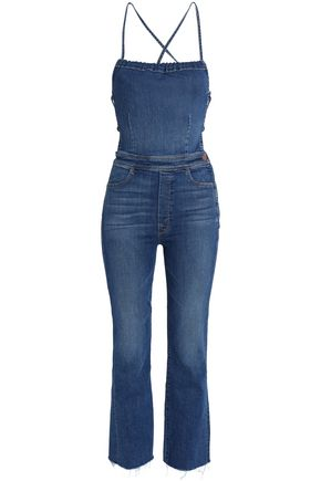 MOTHER Cropped denim jumpsuit