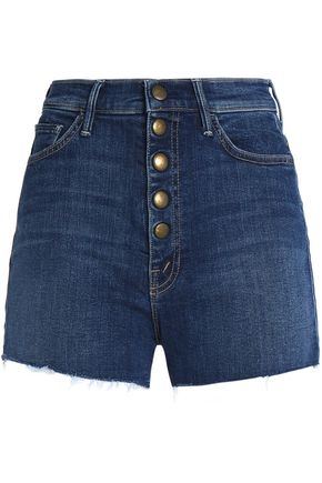 MOTHER Frayed denim shorts