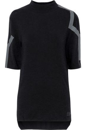 Y-3 + adidas appliquéd stretch-wool top