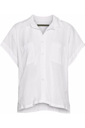 ENZA COSTA Cotton-gauze shirt