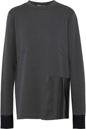 Y-3 +adidas appliquéd cotton sweatshirt