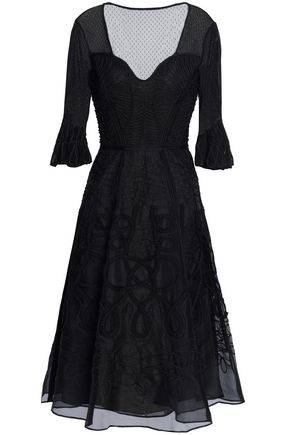 TEMPERLEY LONDON Embroidered organza midi dress