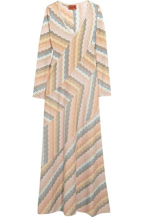 MISSONI Metallic jacquard-knit maxi dress