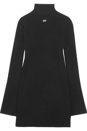 OFF-WHITE™ Open-back printed stretch-knit mini dress