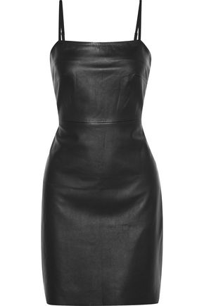 VEDA Leather mini dress