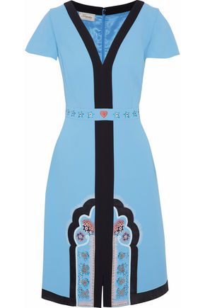 TEMPERLEY LONDON Embroidered crepe dress