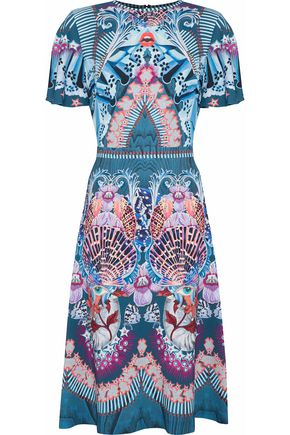 TEMPERLEY LONDON Printed cady dress