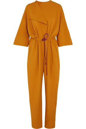 ROKSANDA Draped gathered crepe jumpsuit