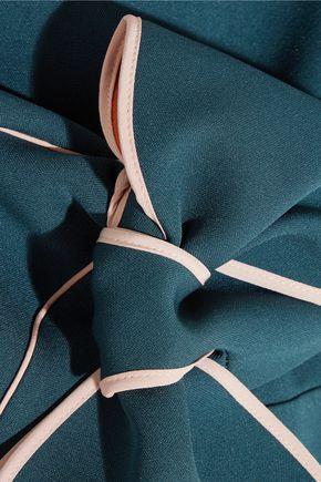 ROKSANDA Bow-detailed crepe mini dress