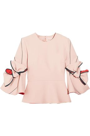 ROKSANDA Bow-detailed crepe top