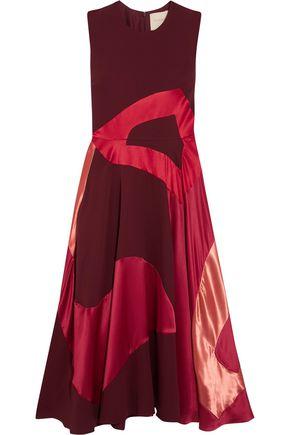 ROKSANDA Keanu satin-paneled silk-blend crepe midi dress