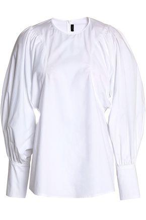 JOSEPH Gathered cotton-poplin tunic