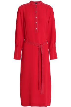 JOSEPH Belted crepe shirt dress