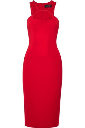 CUSHNIE ET OCHS Cutout crepe dress