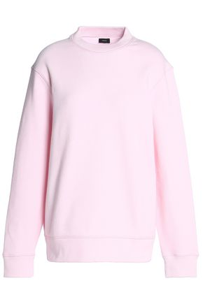 JOSEPH Cutout French cotton-terry sweatshirt