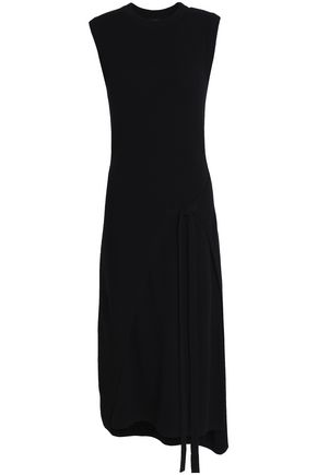 JOSEPH Asymmetric wool midi dress