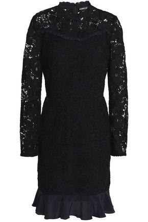 MARKUS LUPFER Lana ruffle-trimmed guipure lace mini dress