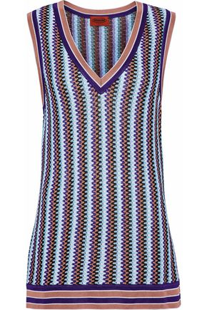 MISSONI Crochet-knit vest