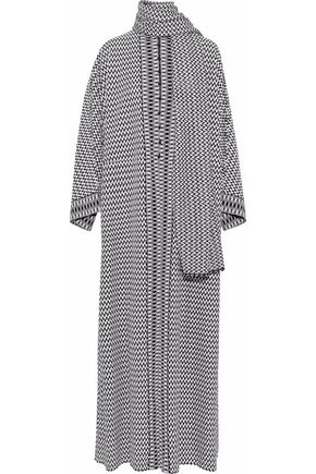 MISSONI Draped jacquard-knit cardigan